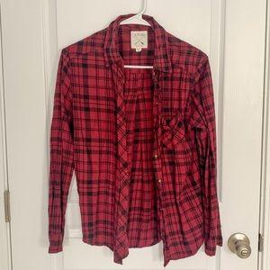 LA Hearts Red & Black Flannel Shirt